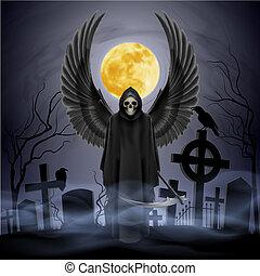 angyal, közül, death.