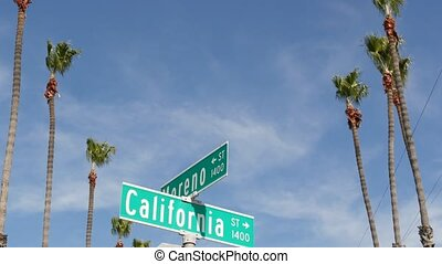 anieli, droga, marszruta, destination., symbol, ulica, los, ...