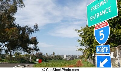 anieli, regulamin, droga, drogowskaz, marszruta, california...