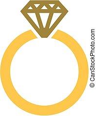 anillo, compromiso, diamante
