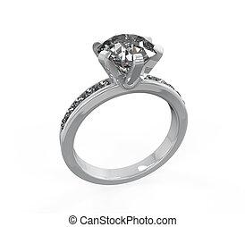 anillo, diamante, boda