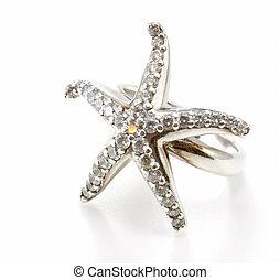 anillo, diamante