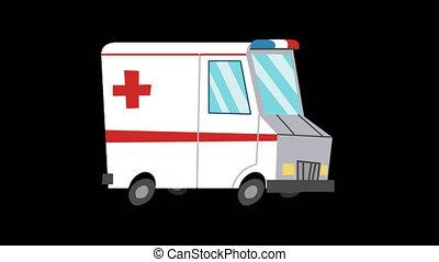 animé, ambulance