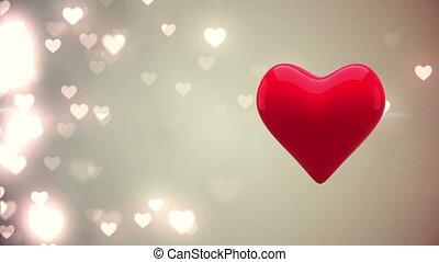 animé, coeur, battement