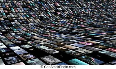 animé, mur vidéo, 4k, loop-able, semicircular.