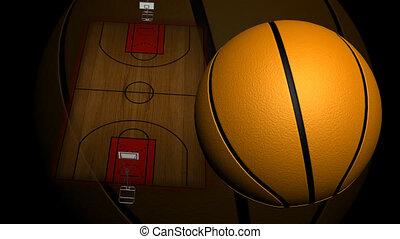 animé, tribunal, basket-ball
