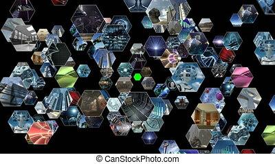 animé, vidéo, modèle, rayon miel, écran, 4k, mur vert