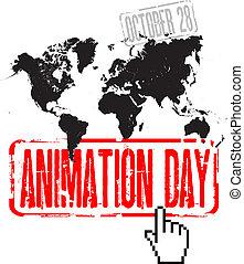 animação, dia
