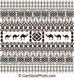 animais, étnico, textura, fundo, arabescos, africano