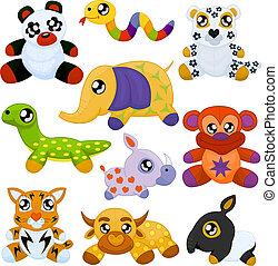 animais brinquedo, asiático