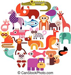 animais, jardim zoológico
