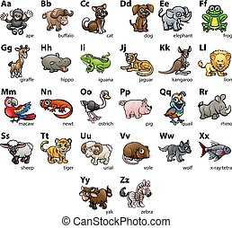 Animal Alphabet Chart Set