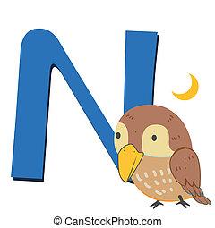 animal alphabet N