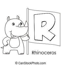 animal alphabet R
