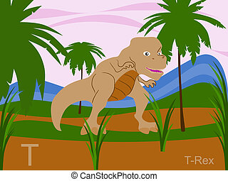 Animal alphabet, T for t-rex - This is part of the animal ...