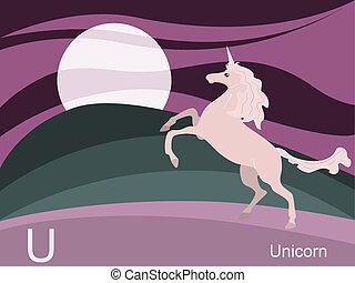 Animal alphabet, U for unicorn - This is part of the animal ...