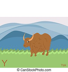 Animal alphabet, Y for yak - This is part of the animal ...