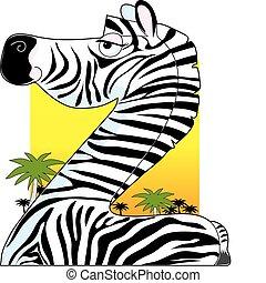 Animal Alphabet Zebra