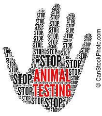 animal, arrêt, essai, illustration