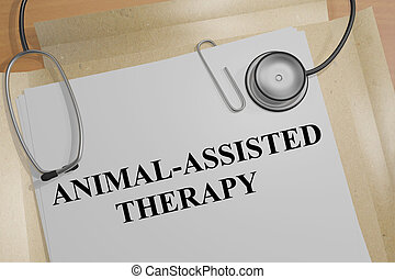 Animal-Assisted Therapy - medical concept - 3D illustration...
