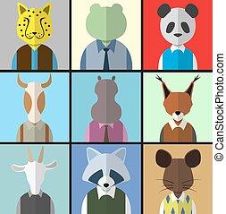 Animal Avatar Icon Set