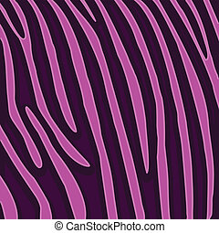 Animal background pattern - Illustration of a pink tiger...