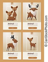 Animal banner with Deers for web design