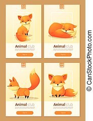 Animal banner with Foxes