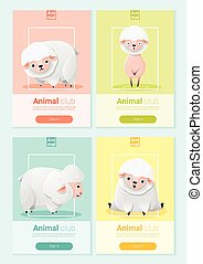 Animal banner with sheep for web design 1