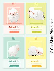 Animal banner with sheep for web design 2
