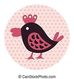 Animal bird flat icon elements, eps10