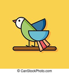 animal bird vector icon