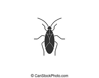 Vector illustration, flat design. Animal bug insect icon