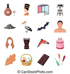 Animal, building, history and other web icon in cartoon style.Circus, food, ecology icons in set collection.