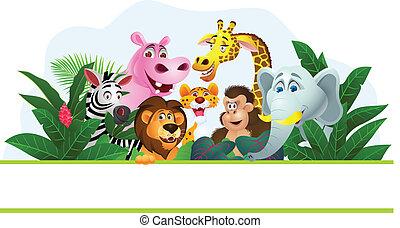 animal, caricatura