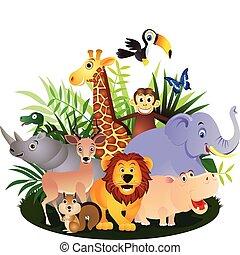 Animal cartoon - adorable africa animals background banner ...