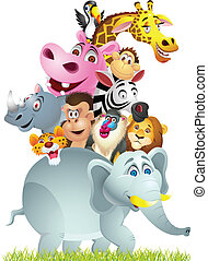 Animal cartoon group