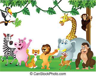 Animal cartoon  - Vector Illustration of Animal cartoon