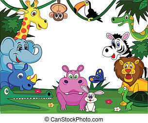 Vector illustration of animal cartoon