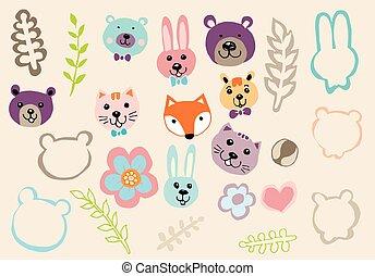 Animal Cartoon with Nature