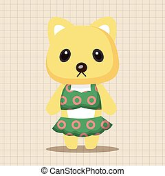 animal cat summer cartoon theme elements