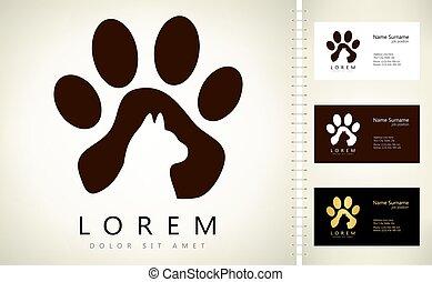 animal, chat, logo, vecteur, conception