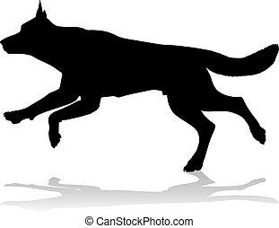animal, chien, chouchou, silhouette