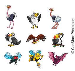 animal, cobrança, flyng