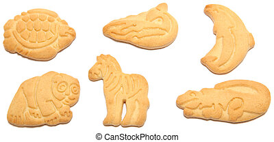 Animal Crackers - High resolution tortoise, whale, dolphin,...