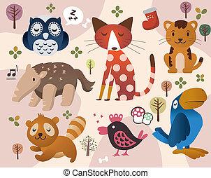 animal, cute, jardim zoológico
