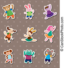 animal dance stickers