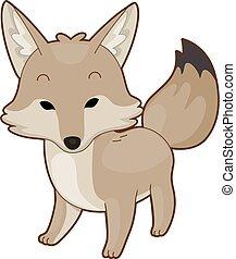 Animal Desert Coyote Illustration - Illustration of a Desert...