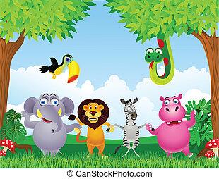 animal, dessin animé