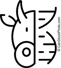 Animal DNA icon, outline style - Animal DNA icon. Outline...
